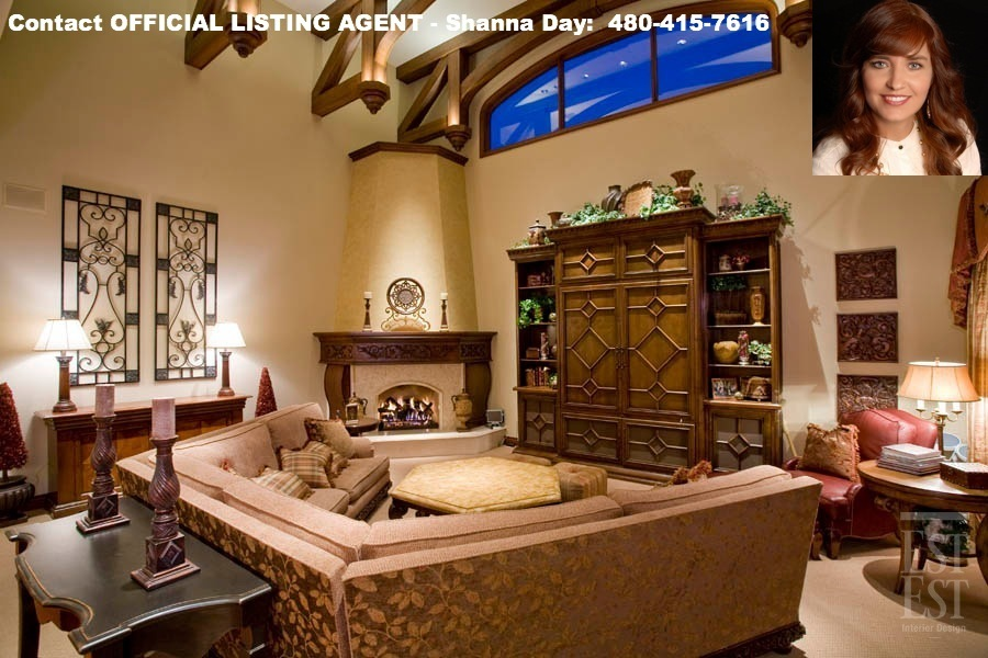 Palatial 5 bed luxury home 1 bed guest home in mesa az for The family room on main